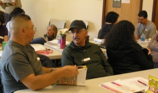 Participants broke into small groups to begin exploring on-farm decisions