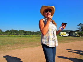 Ranch Manager, Pam Mitchell Gayler describes the enterprises at Montesino.